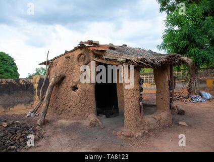 Senufo blacksmith workshop, Poro region, Koni, Ivory Coast - Stock Image