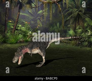 dinosaur Tarbosaurus - Stock Image