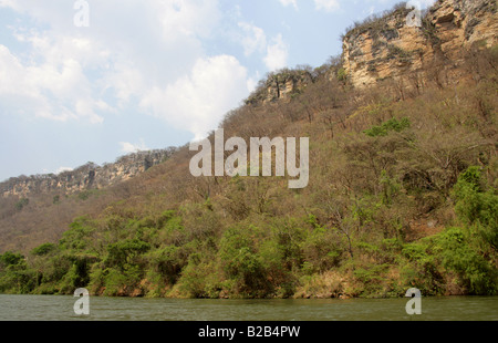 Sumidero Canyon and Grijalva River, Chiapas State, Mexico - Stock Image
