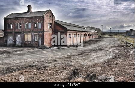 Derelict warehouse in Carlisle, Cumbria, England, UK - Stock Image