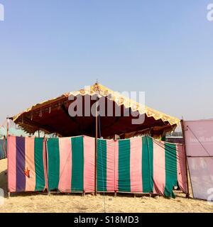 Festival tent, Kathmandu, 2017 - Stock Image