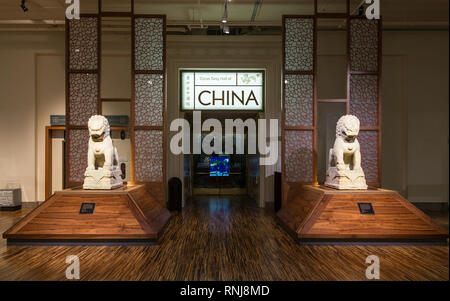 Entrance to the Cyrus Tang Hall of China. The Field Museum, Chicago, Illinois, USA. - Stock Image