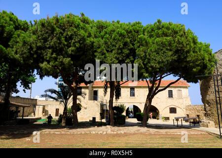 Larnaca Fort courtyard, Cyprus October 2018 - Stock Image