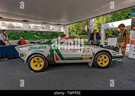 Turin, Piedmont, Italy. 22nd June 2019. Italy Piedmont Turin Valentino park Auto Show 2019 - Lancia Stratos Credit: Realy Easy Star/Alamy Live News Credit: Realy Easy Star/Alamy Live News - Stock Image