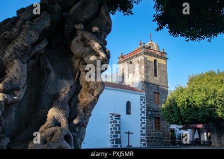 Iglesia de Nuestra Senora de los Remedios (Church of Our Lady of Remedies) in Los Llanos de Aridane, La Palma, Canary Islands, Spain - Stock Image