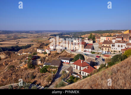 The town of Toro above the valley of the Río Duero. Zamora, Castilla y León, Spain. - Stock Image
