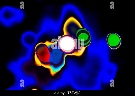 Modern Art Photography Abstract Concentration Creative Cosmos Galaxy Universe India 8/3/2007. - Stock Image