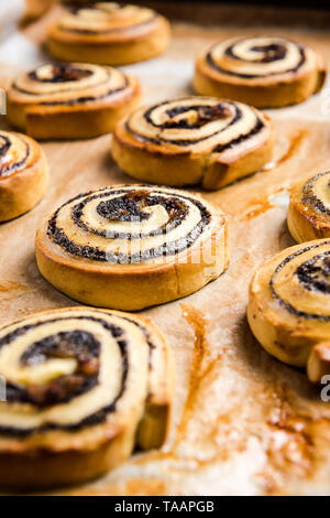 Fresh ready to eat french pastry rolls. - Stock Image