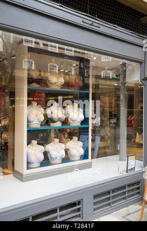 Brassier shop front Cambridge - Stock Image