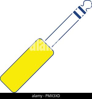 Music jack plug-in icon. Thin line design. Vector illustration. - Stock Image