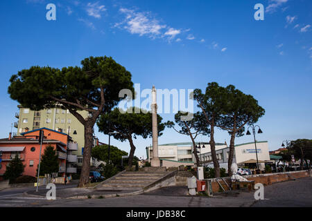 Saint mother statue in the center of the city. Caorle - Italy - Stock Image