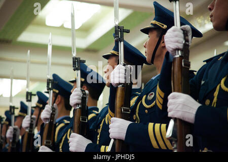 People Liberation Army, Great Hall of People, Beijing, China - Stock Image