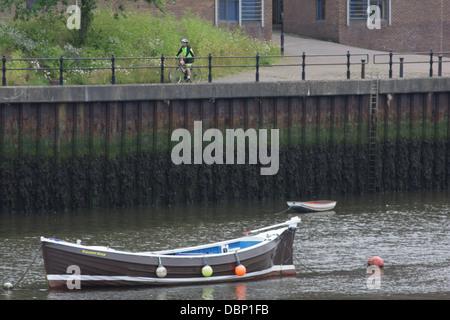 Fishing boat the Valiant Star moored on the River Wear, Sunderland - Stock Image