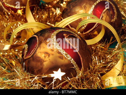 Christmas balls and other decoration - Stock Image