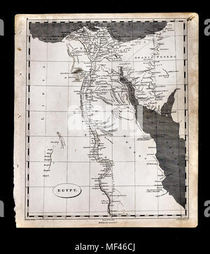 1804 Arrowsmith Map Egypt North Africa - Stock Image