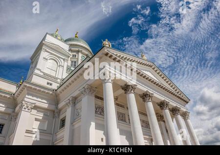 Helsingin tuomiokirkko, Helsinki Cathedral, Senaatintori, Helsinki, Finland - Stock Image
