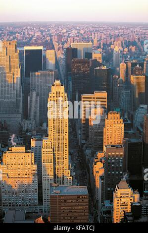 United States Of America New York New York Manhattan View With The Empire State Building - Stock Image