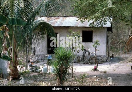 A 'modern' Chortí indigenous Mayan house in western Honduras. - Stock Image