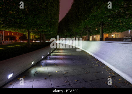 USA Washington DC National Law Enforcement  Officers Memorial Exterior Night Evening - Stock Image