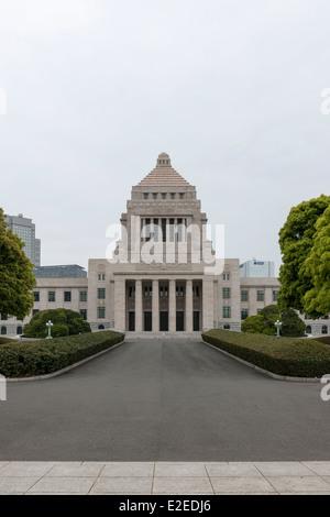 National Diet Building, Chiyoda-ku, Tokyo, Japan - Stock Image