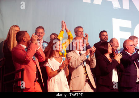 Brexit MEP Candidates, on stage during a Rally at Olympia, London - Stock Image