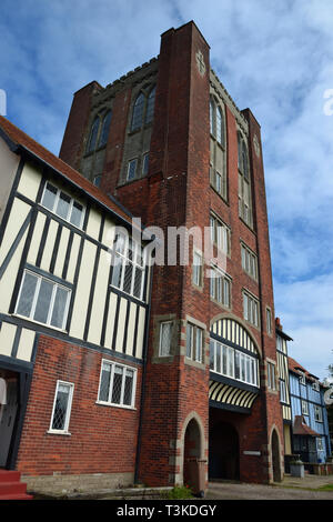 Thorpeness Old Church Tower, now flats. Thorpeness, Suffolk, England, UK - Stock Image