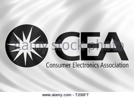 CEA Consumer Electronics Association logo - Stock Image