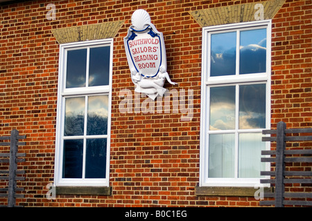 The Sailor's Reading Room sign, Southwold, Suffolk, England, United Kingdom - Stock Image