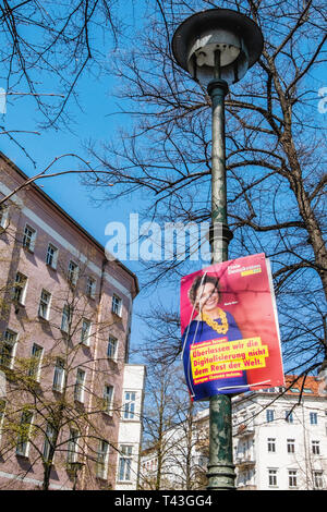 Germany, Berlin.  Election poster, European Elections 23-26 May 2019. FDP poster - Stock Image