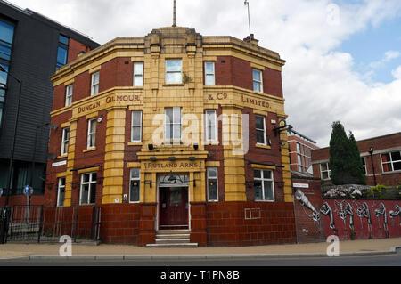Rutland Arms pub in Sheffield city centre - Stock Image