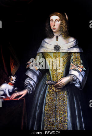 Portrait of a Lady by French unknown painter 16th Century France - Stock Image