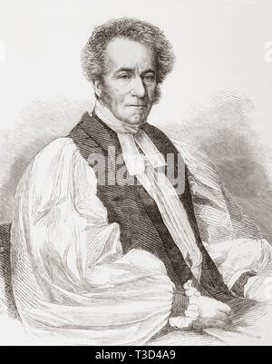 William Jacobson, 1803 – 1884.  Regius Professor of Divinity at Oxford University and Bishop of Chester.  From The Illustrated London News, published 1865. - Stock Image