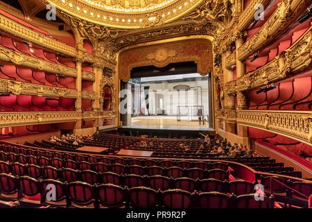The Palais Garnier (Opera Garnier) in Paris, France. It was originally called the Salle des Capucines - Stock Image