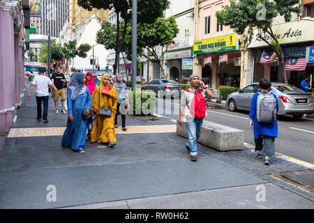 Jalan Hang Kasturi Street Scene, Kuala Lumpur, Malaysia. - Stock Image