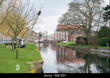 The River Head of the Driffield Navigation Canal in Great Driffield, East Yorkshire - Stock Image