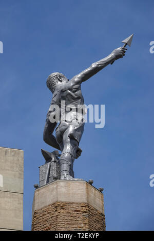 USA Alabama AL Birmingham Vulcan Park tower statue monument to the Roman God Vulcan god of fire and forge - Stock Image