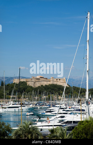 Antibes; Fort; Marina, French Riviera - Stock Image
