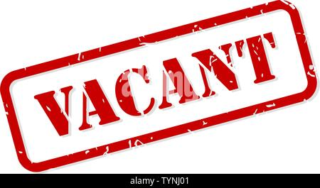Vacant red rubber stamp vector isolated - Stock Image