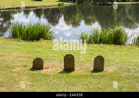 Pet Graveyard at Leeds Castle - Stock Image