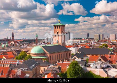 Aerial view of Copenhagen, Denmark - Stock Image