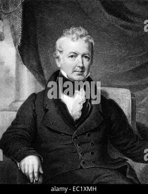 William Gaston (1778-1844) on engraving from 1835.  Jurist and United States Representative from North Carolina. - Stock Image