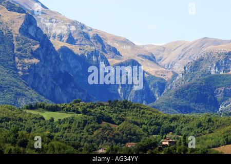 entrance to the `Gola d'Infernaccio in the Sibillini mountains,Le Marche,Italy - Stock Image