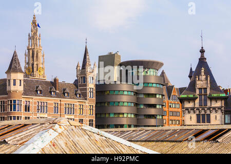 CITYSCAPE OF ANTWERP, FLANDERS, BELGIUM - Stock Image