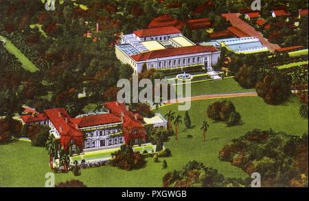 Pasadena, California, USA - Henry E. Huntington Library and Art Gallery, San Marino     Date: 1946 - Stock Image