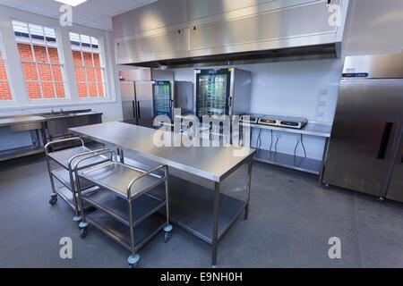 School kitchens at Isle of Wight Studio School - Stock Image