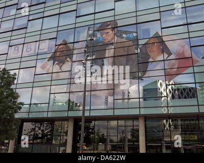 Dr Who image on BBC media city UK Salford Quays , Manchester UK - Stock Image
