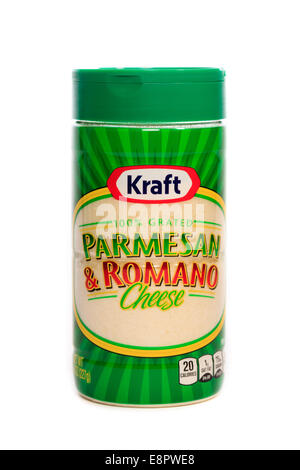 Kraft 100% grated Parmesan & Romano Cheese - Stock Image