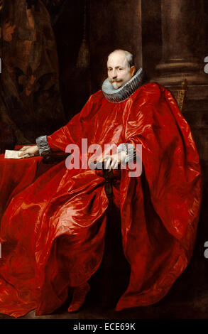 Portrait of Agostino Pallavicini; Anthony van Dyck, Flemish, 1599 - 1641; about 1621; Oil on canvas; Unframed: 216.2 - Stock Image