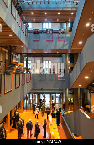 Entrance and Foyer of the Pierre Boulez Saal in the Barenboim-Said Akademie, Barenboim Said Academy Berlin Germany. Design by HG Merz. - Stock Image