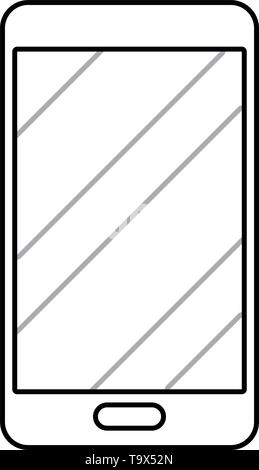 cellphone icon cartoon isolated vector illustration graphic design - Stock Image